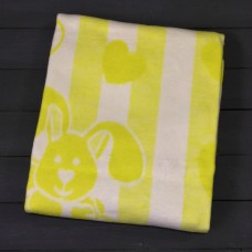 Желтое Зайкин сон 57-8ЕТЖ 100х140 100% х/б Байковое жак Ермолино одеяло
