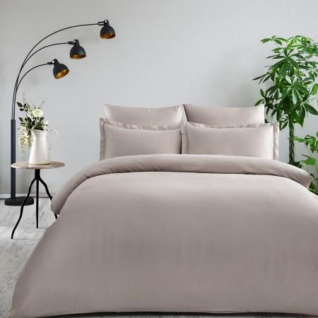 Комплект постельного белья из сатина однотонный Кофейный