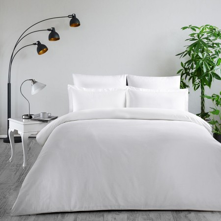 Комплект постельного белья из сатина однотонный Белый