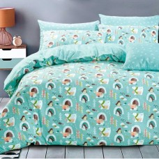 Комплект постельного белья из печатного сатина арт. 1356-4XS