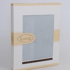 """Скатерть """"KARNA"""" жаккард пано CARAMEL 160x300 см"""