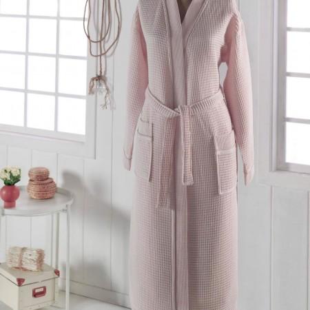 NEVA  М (персик) Халат вафельный кимоно