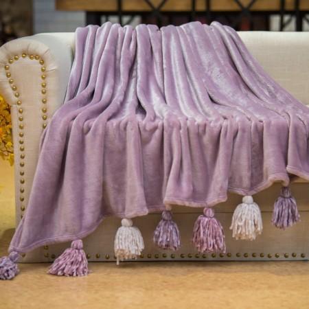Tassel №7 (фиолет) Плед 160х220
