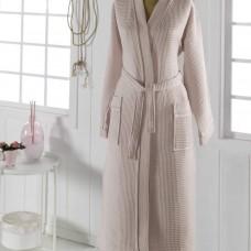 NEVA  L (беж) Халат вафельный кимоно