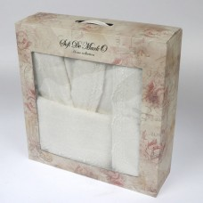 LINDA (крем) L-XL Комп.из халата и полотенец