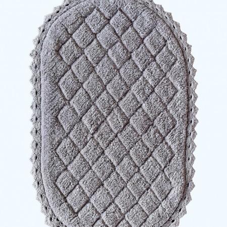 Florence (серая) Набор ков. для ванной кружевной 60х100 и 50х70