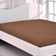 Простынь трикотажная (беж) 180x200+30 см на резинке