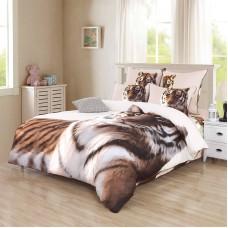 Амурский тигр постельное белье из сатина 4 наволочки