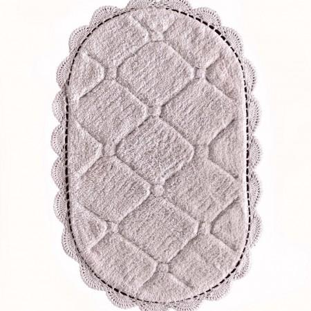 Brianna (пудра) Коврик для ванной кружевной 50х70