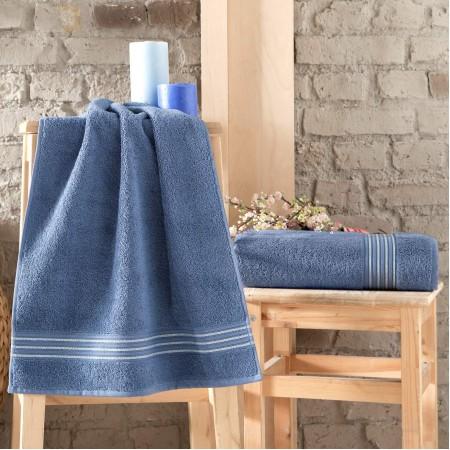 BLEND (синий) 70х140 Полотенце Махровое
